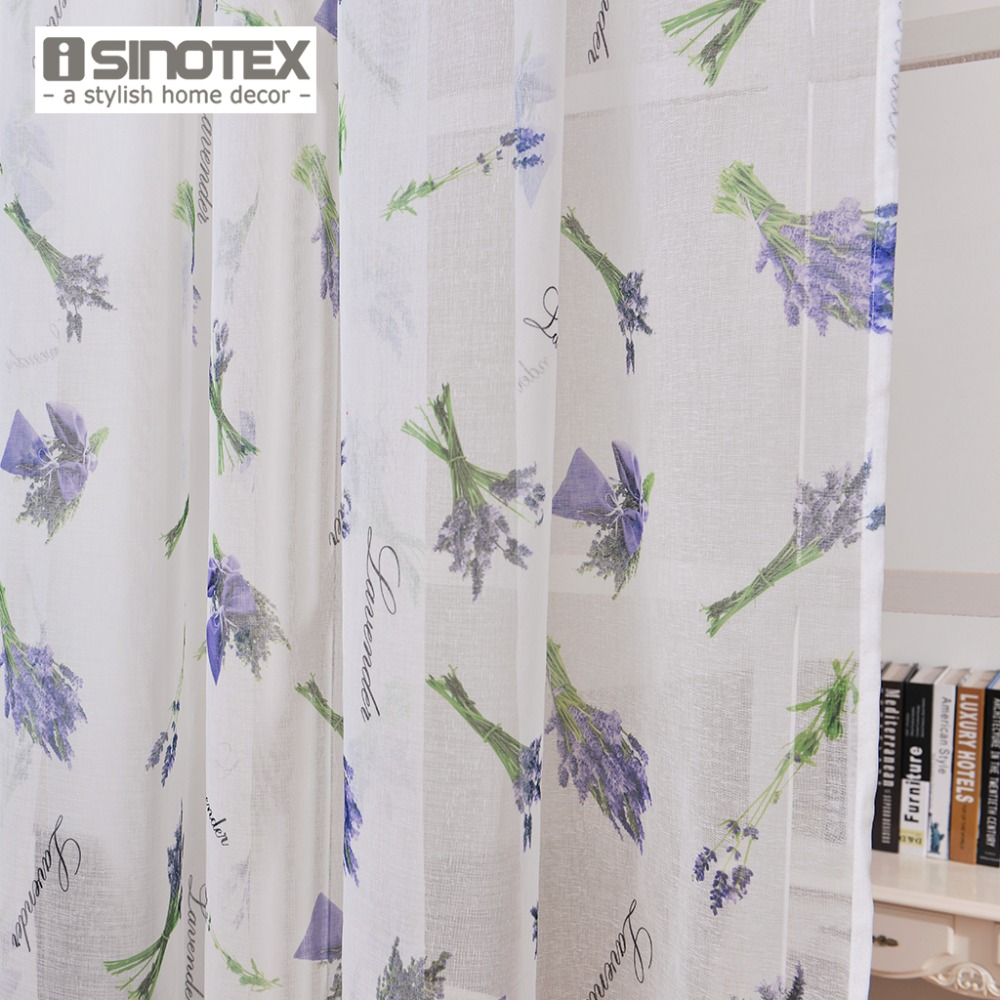 Isinotex Window Curtain Lavender Printed Pattern