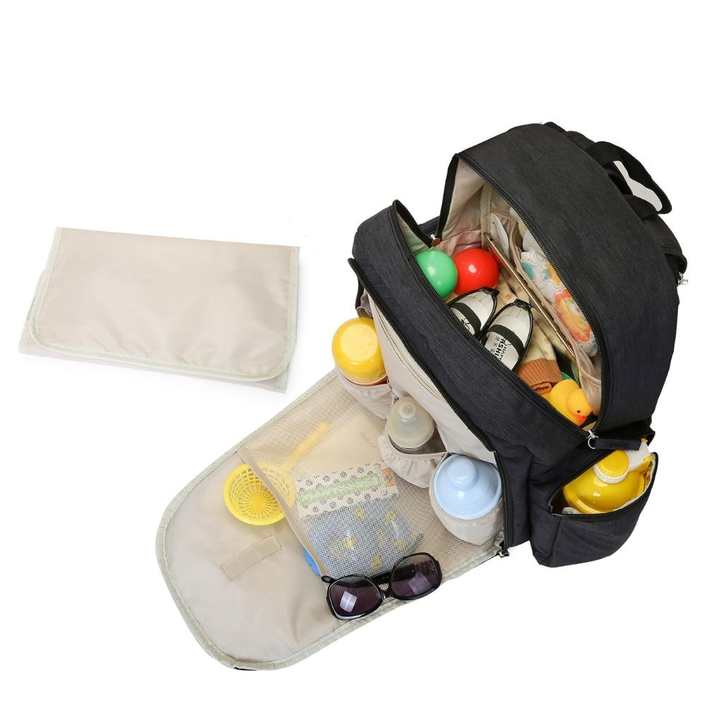 mommore bolsa de pañales para bebés con cojín cambiador pañales - Pañales y entrenamiento para ir al baño - foto 4