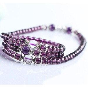 Image 3 -   Fine Jewelry Hot sale! 6mm Crystal Stone 108 Prayer Beads Mala Bracelet Necklace