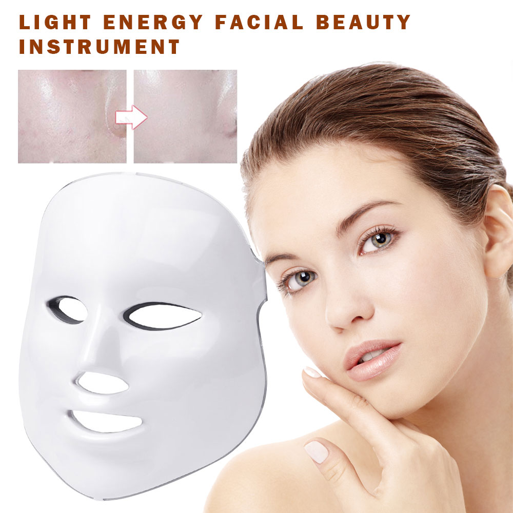 7 couleurs LED photon masque Facial thérapie soins de la peau rajeunissement Anti-rides acné solvant visage beauté Salon usage domestique masque LED