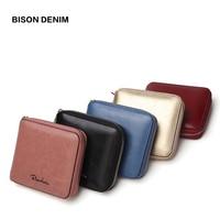 BISON DENIM Women Purse Cowhide Genuine Leather Women Wallet Tassel Card Holder Wallet Luxury Women Wallet N9336