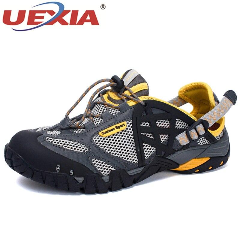 Yellow Chaussures Hommes 39 Dentelle Respirant La up Confortable Taille Sandales D'été Casual Mâle Qualité 47 Maille Uexia Couples Red Plus gray Plage Lumière Black qgIPp