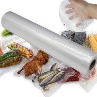 2 Pcs Vacuum Fresh Food Plastic Preservative Flim Wrap Rollers Shield Storage Bag Heat Sealer Kitchen Packaging Tool F1029