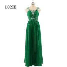 Emerald Green abendkleid Scoop Eine Linie Bördelte Backless Formale Schwangere Abendgesellschaft Kleider Chiffon Echt Besondere anlässe 2017