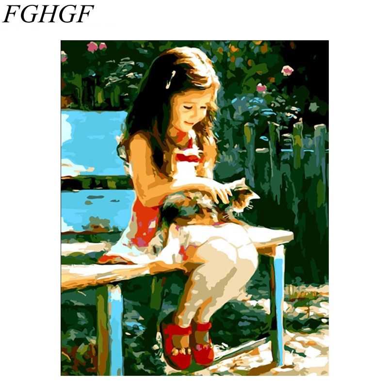 FGHGF Frameless Abstract DIY Digital Oil Painting By Numbers Picture Painting On Canvas Home Decoration Artwork Ballet