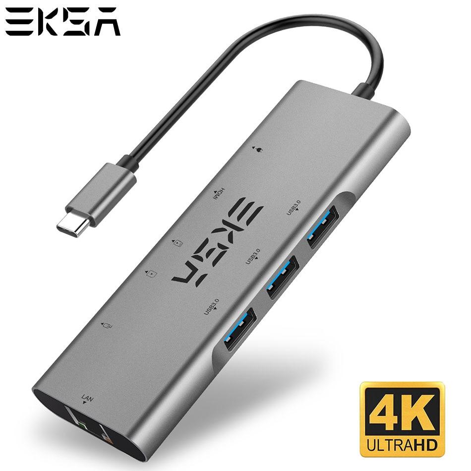 EKSA 9 in 1 SB C HUB Type C HUB DMI RJ45 USB3 0 USB2 0