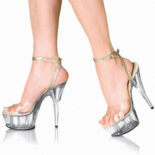 The sexy queen shoe is 15 centimeters high heel dance shoe, model stage runway show sandal