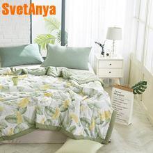 Svetanya тонкий принт одеяло постельные принадлежности плед(без наволочки