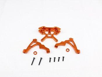 baja metal head different design orange color shock tower set