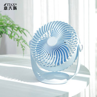 Mini office desktop fan silent portable usb rechargeable three speed shift 360 degree rotating ITAS6612A