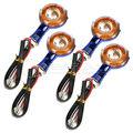 4 pcs 12 V Universal Motos Turn Signal Luz Âmbar 10 LED SMD indicador Blinker Flash Da Bicicleta Da Lâmpada Azul Rodada 3D Crânio Mão D25