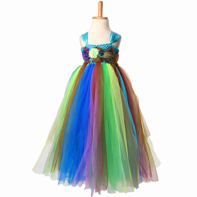 placeholder Keenomommy Fairy Peacock Girls Tutu Dress Kids Holiday Party  Pageant Ball Gown Flower Girls Dress Wedding 35ed669aefe8