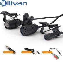 Portable Mini Lavalier Microphone Condenser lapel microphones Tie Clip Audio MicFor Computer PC Phone Laptop Camera Add Adapter