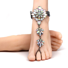 Sexy Ankle Bracelet Chain Crystal Leg Chain Beach Vacation Barefoot Sandals  Boho Statement Feet Jewelry Luxucy Pie Leg Anklet 2324ac93ecb1