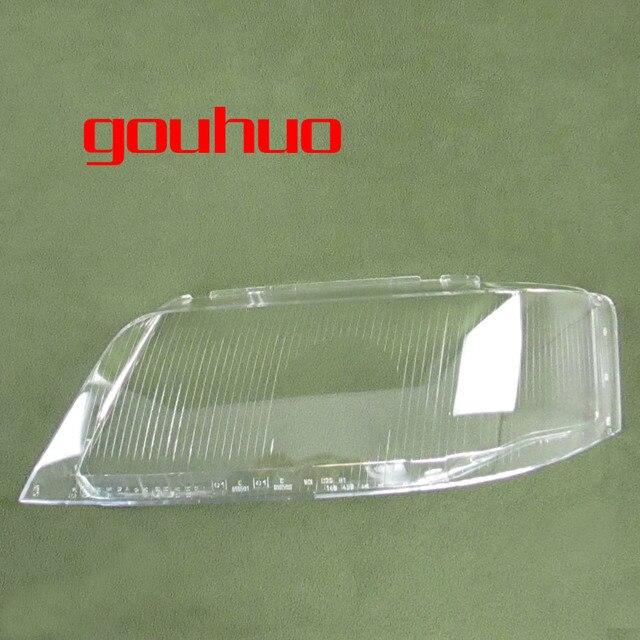 Para Audi A6 C5 99 02 faro lámpara cubierta de la lente de vidrio cubierta de la lámpara del faro pantalla transparente 2 piezas