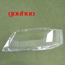 Per Audi A6 C5 99 02 del faro della lampada della copertura della lente di vetro di copertura della lampada del faro paralume trasparente 2 PCS