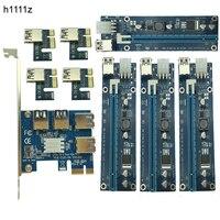 Heißer Verkauf PCIE PCI-E PCI Express 1X zu 16X Riser Card 1 auf 4 USB3.0 Multiplier Hub Adapter Für Bitcoin Mining Bergbau Bergmann Gerät