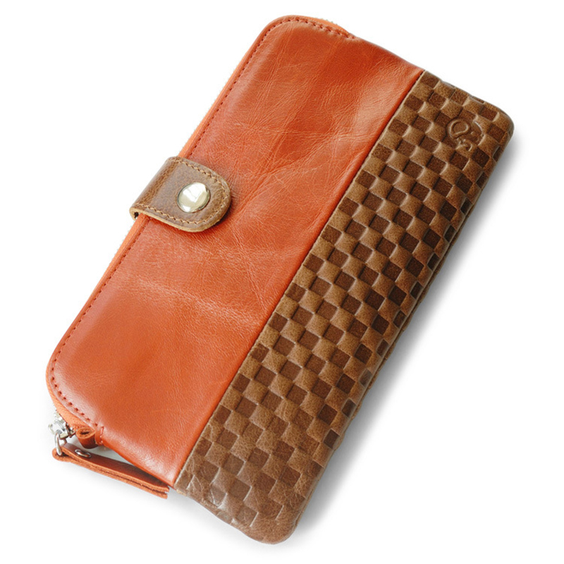 Genuine Leather Wallet Female Cow Leather Clutch Bags 2018 New Women Wallets Purses Fashion Lady Long Evening Bags women wallet female 2017 coin purses holders 100% genuine leather money bags fashion sheepskin long clutch lace wallets