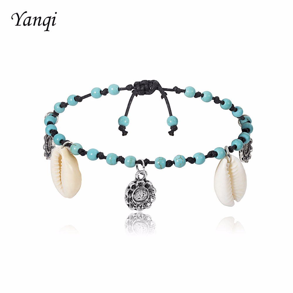 Designer Sea shell Bracelets Bangles boho fashion Simple beach seashell foot chain anklet bracelets for women jewelry Gifts in Strand Bracelets from Jewelry Accessories