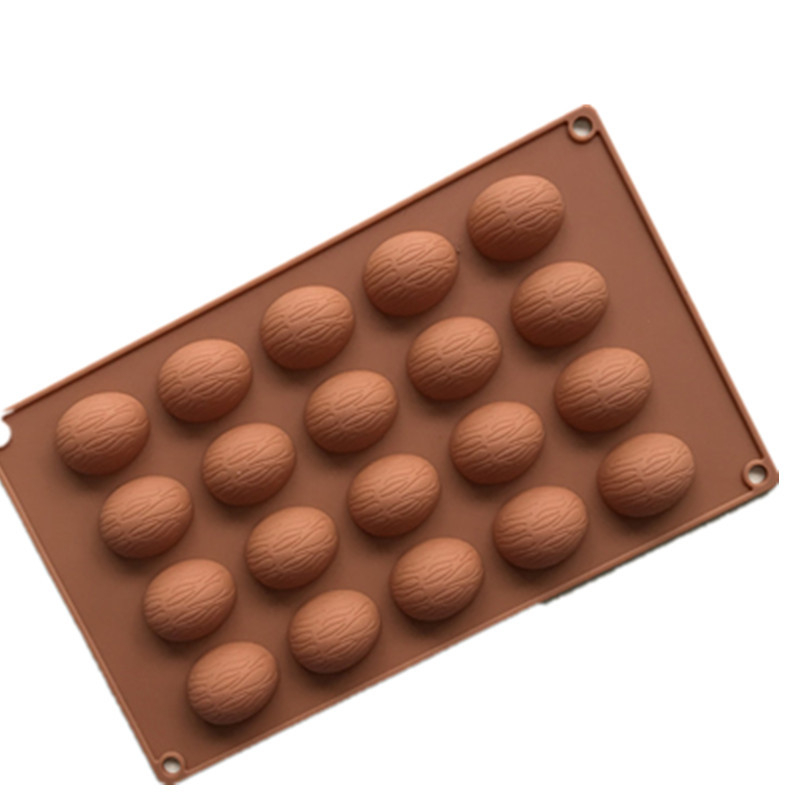 20 holes walnuts Shape cake chocolate silicone molds pudding mold household DIY Pie Tools H020