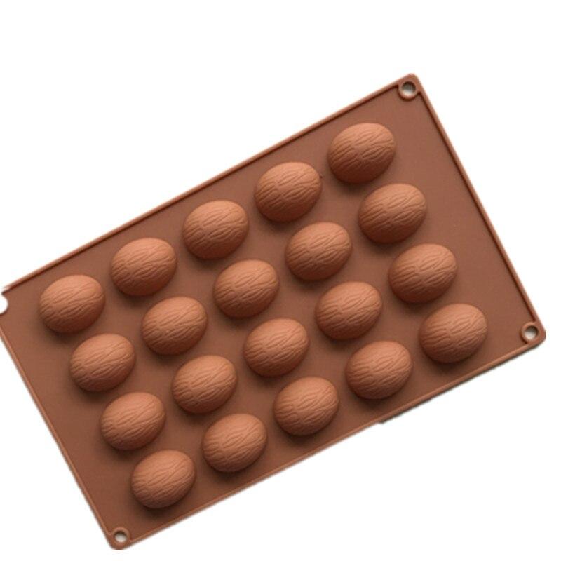 20 отверстия грецкие орехи Форма торт шоколад силиконовые формы пудинг формы бытовой DIY Пирог Инструменты H020