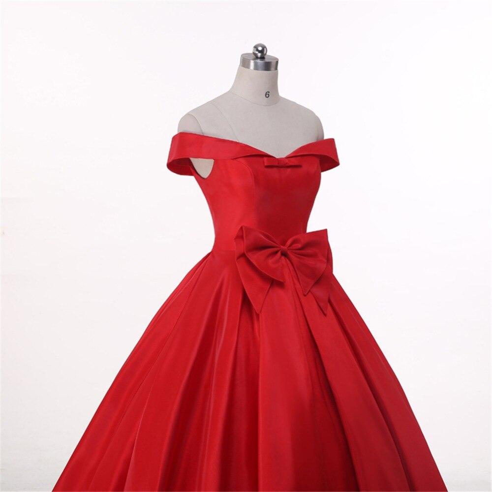 0685a2e470 ruthshen Off Shoulder Burgundy Red Ball Gown Evening Dresses Long ...