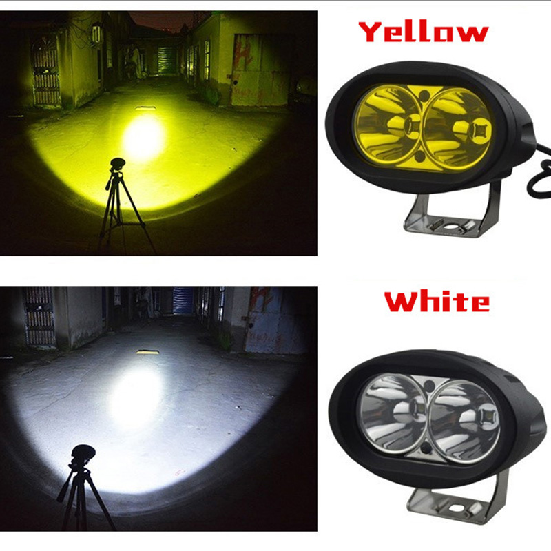 20W 2000lm 6500K Oval LED Car Light Auxiliary Lighting 12/24V Spotlight For Off-road Vehicle Motorcycle CSL2018