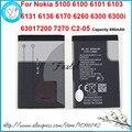 Nueva li-ion bl-4c bl 4c batería del teléfono móvil para nokia 5100 6100 6101 6103 6131 6136 6170 6260 6300 6301 7200 7270 C2-05