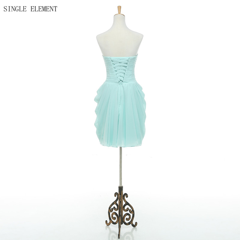 SINGLE ELEMENT Under 50 Real Photo Short Chiffon Sweetheart Bridesmaid Dresses in Bridesmaid Dresses from Weddings Events