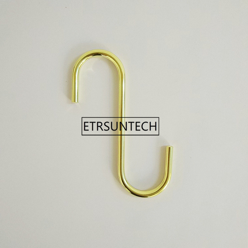 Gold S Type Hooks Nordic Exquisite Sundries Curtain Key Storage Hook For Home Kitchen Organizer Decor