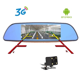 7 inch Android 5.0 Car DVR 3G Full HD 1080P Bluetooth GPS WIFI FM 16GB Dual Lens Camera Rearview mirror Video Recorder