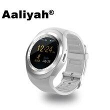 Aaliyah Y1 Inteligente Acecha Ronda Soporte Nano SIM y Tarjeta de TF con Facebook Y Whatsapp Hombres Mujeres Negocio Smartwatch Para IOS Android