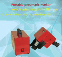 Freeship By DHL KT QD05 Portable Pneumatic Marking Machine 120 40MM For Automotive Frame Engine Motorcycle
