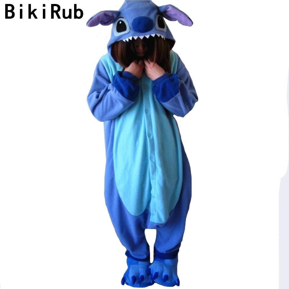 BIKIRUB 2019 Cute Stitch   Pajamas   Sleepwear Women Animal   Pajama     Set   Fleece Pyjama   Set   Cute Cartoon Adult Hooded Pyjamas Home Wear