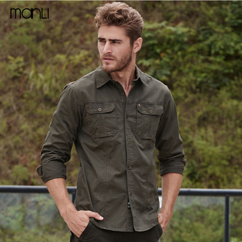 AFS Jeep Outdoor Men's Shirts Breathable Long Sleeve Shirt Cotton Fall Business Breakout Fishing Trekking Hiking Male Clothing