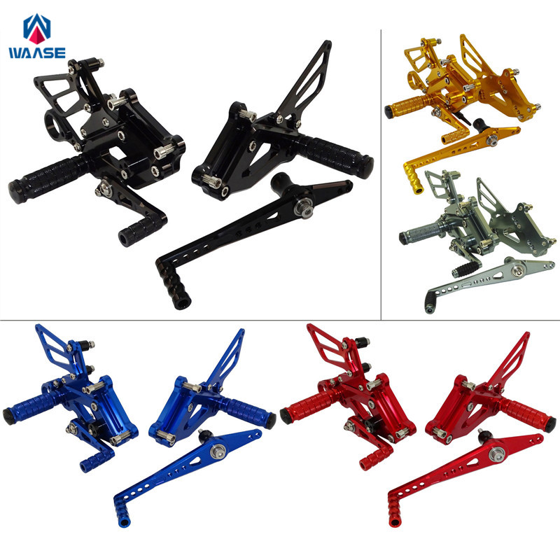 waase Motorcycle Adjustable Rcing Rider Rear Sets Shift Rearset Footrest Foot Rest Pegs For BMW S1000RR S 1000 RR 2015 2016 2017 motorcycle adjustable rider rear sets rearset fold foot rest pegs for honda cbr1000rr cbr 1000 rr 2004 2005 2006 2007