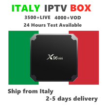 Italy IPTV Box X96mini Android 7.1 Smart Tv Box with Italian IPTV Subscription Mediaset Premium Italia set top box
