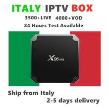 Italy IPTV Box X96mini Android 7.1 Smart Tv Box with Italian