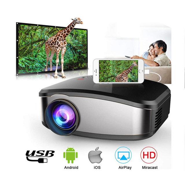 Special Price Mini Projector Portable Mini LED Movie Video Projector Support 1080P with HDMI USB VGA AV interface Home theater 5.1 for Laptop