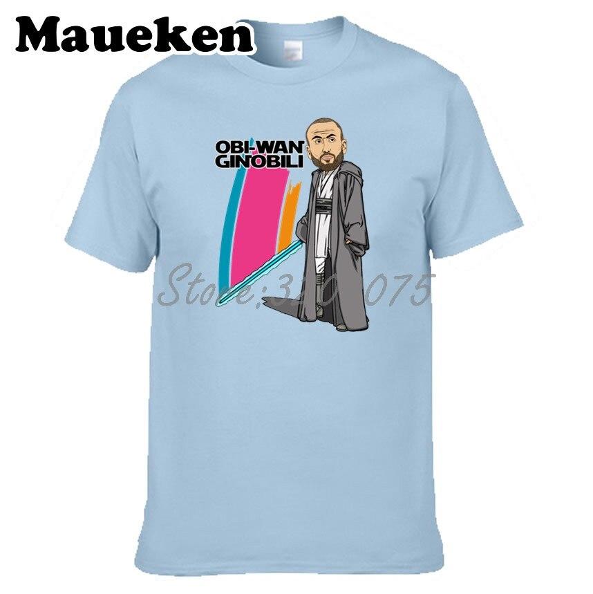 san francisco c09f7 f740d US $18.88 |Men Obi Wan Ginobili 20 Manu Ginobili T shirt Tees Short Sleeve  T SHIRT Men's Fashion San Antonio Comic Cartoon W1026004-in T-Shirts from  ...
