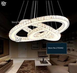 Image 2 - נירוסטה עגולה led עגול אוכל סלון מודרני מינימליסטי נברשות חדרי מלון XXT 009
