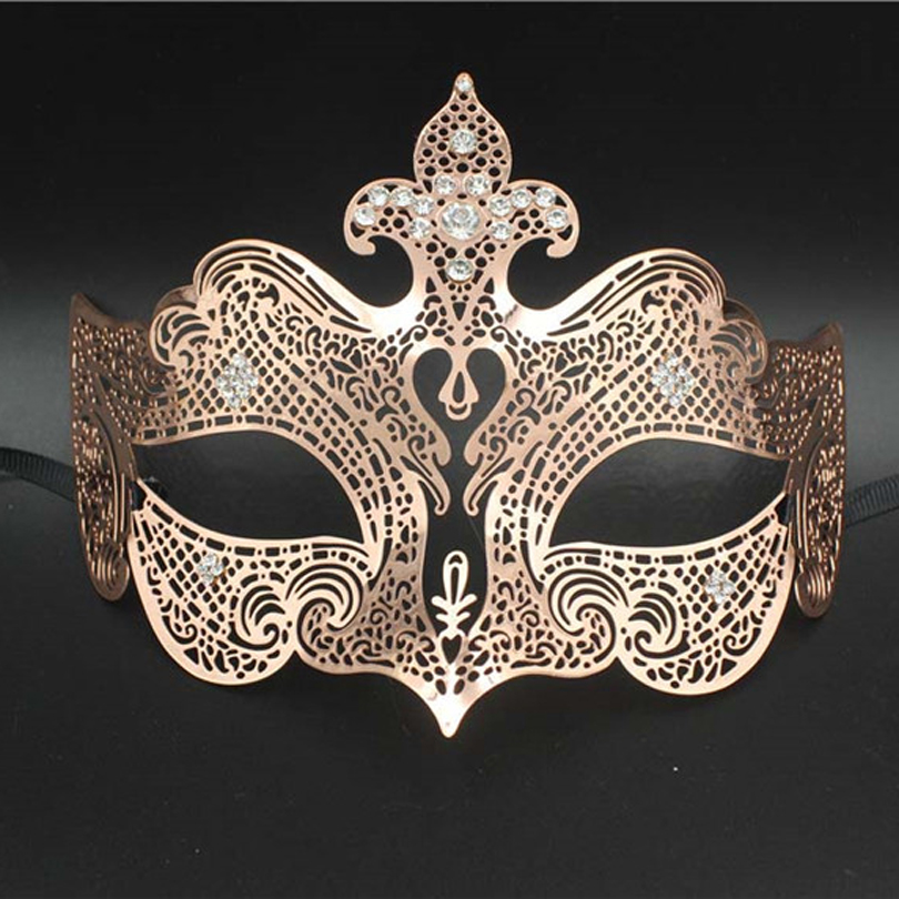 Brand New Laser Cut Metal Mardi Gras Masquerade Venetian Mask Hot Pink//Silver
