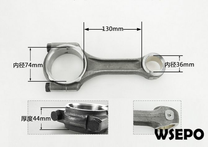 купить OEM Quality! Connecting Rod/Conrod Assy for L28 4 Stroke Single Cylinder Small Water Cooled Diesel Engine по цене 2023.67 рублей