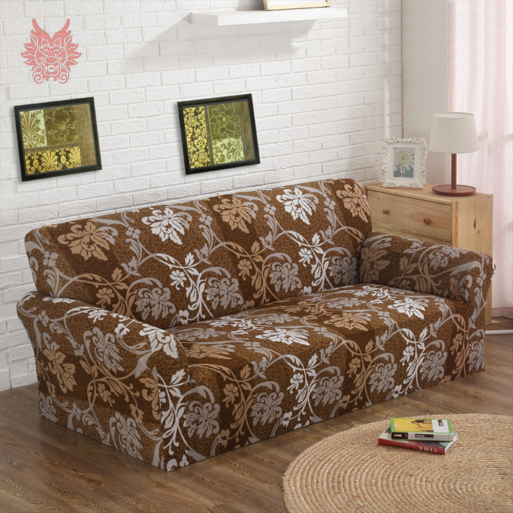 Fantastic Us 7 7 45 Off 1Seat 2Seats 3Seats 4Seats Brown Floral Print Stretch Seat Covers Slipcover Universal Elastic Force Sofa Covers Sp4078 Free Ship In Dailytribune Chair Design For Home Dailytribuneorg
