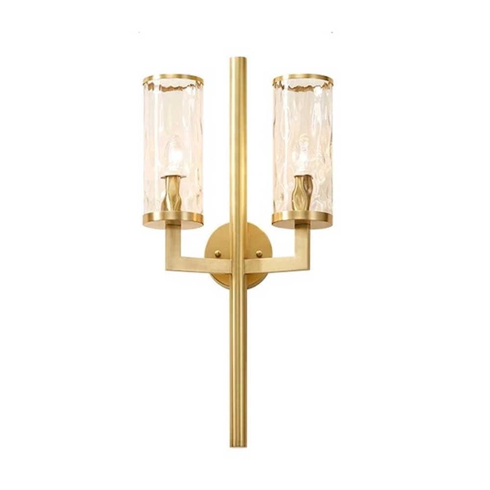 Роскошный дизайн E14 светодиодный Современный Стекло настенный светильник с абажуром для Гостиная Спальня Home Decor Art Медь настенный светильник приспособление