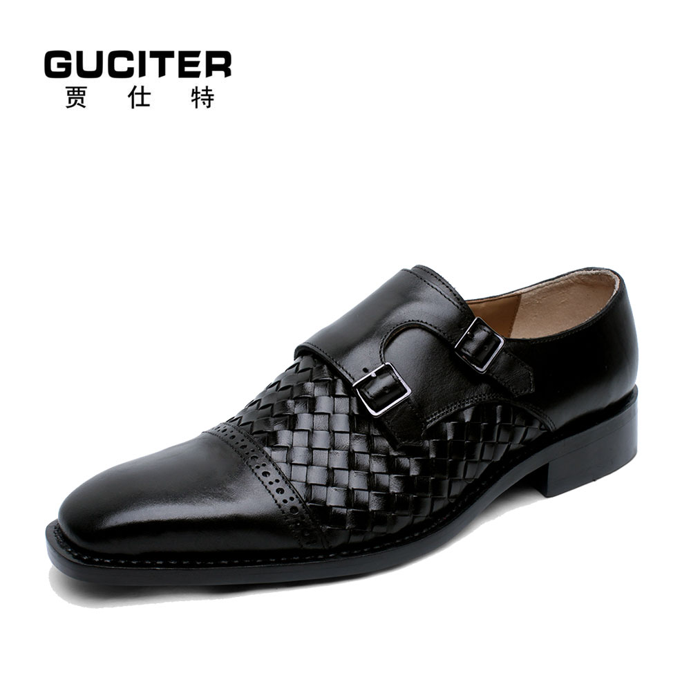 100%Pure Genuine Calf Leather Goodyear welted shoes Men's casual dress Monk-Strap Shoe handmade breathable popular order shoes полироль пластика goodyear атлантическая свежесть матовый аэрозоль 400 мл