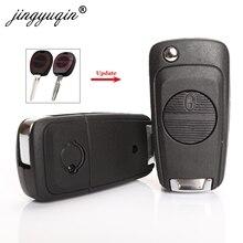 jingyuqin Folding Car Key Case 2 Buttons Upgrade For Nissan Almera Primera X-Trail with A33/NSN14 NSN11 BLADE Flip Fob Shell