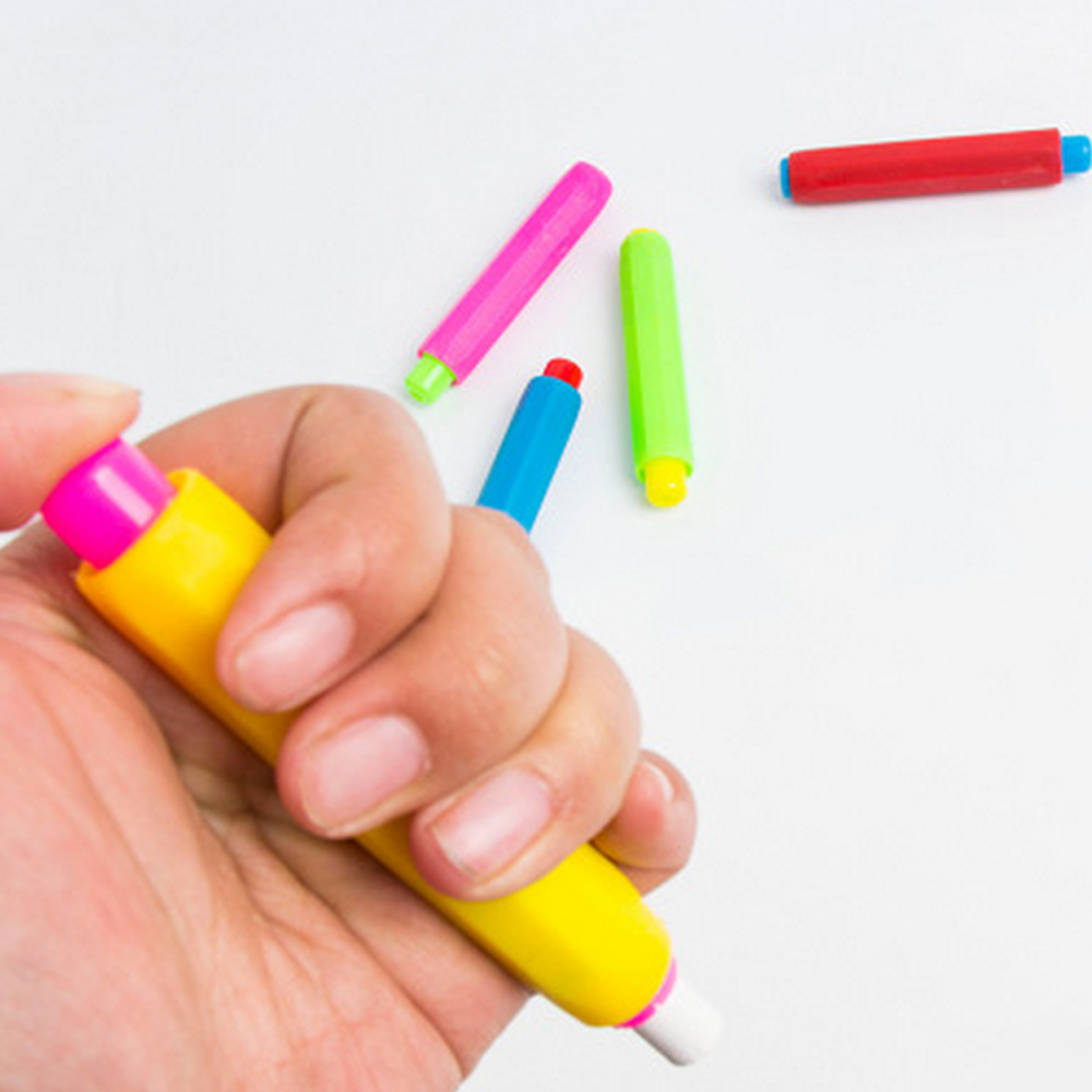 5 Färger Blandade Kalkhållare För Barn Små Blackboard Ritning - Skola och pedagogiska förnödenheter - Foto 5