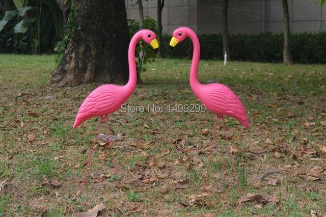 garden flamingos. EALISEN 2 Pink Plastic Flamingos With Carbon Fiber Legs For Garden Decoration And Wedding H