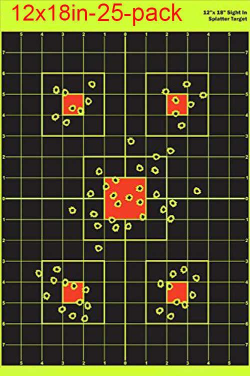 """12 """"x18in 25 حزمة البصر في اطلاق النار الرماية ملصقات الألوان المقلاع الصيد الهواء بندقية bb بندقية ل مطلق النار ممارسة"""